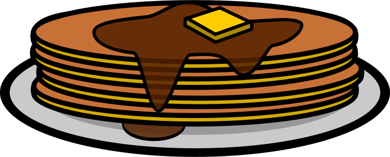 Free Plate of Pancakes Clip Art