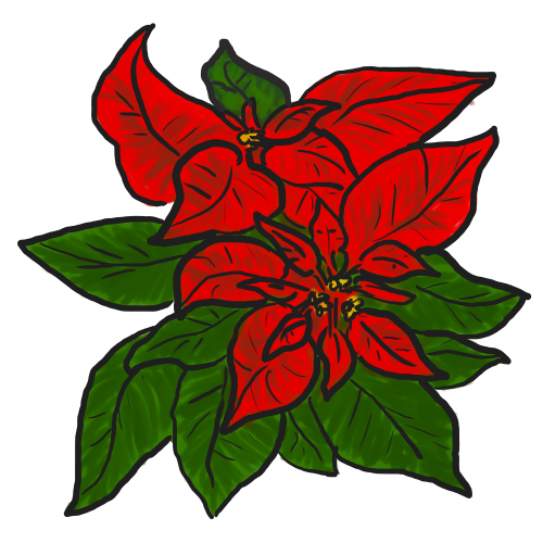 Free Poinsettia Clip Art