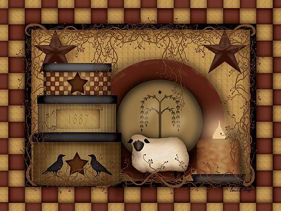 Free Primitive Clip Art | Folk Art - Pri-free primitive clip art | Folk Art - Primitive - Primitive Starberry - Primitive Country Framed-7