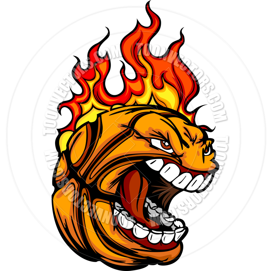 picture about Basketball Clipart Free Printable titled 20+ Flaming Basketball Clipart ClipartLook