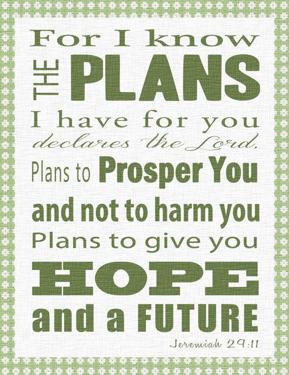 free printable bible verse clip art | ... Art Bible Verse -Jeremiah 29:11- Christian Wall Art Decor- You Print | Truths | Pinterest | Scripture art, ...