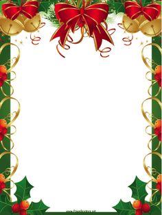 Free Printable Christmas . - Christmas Border Clipart