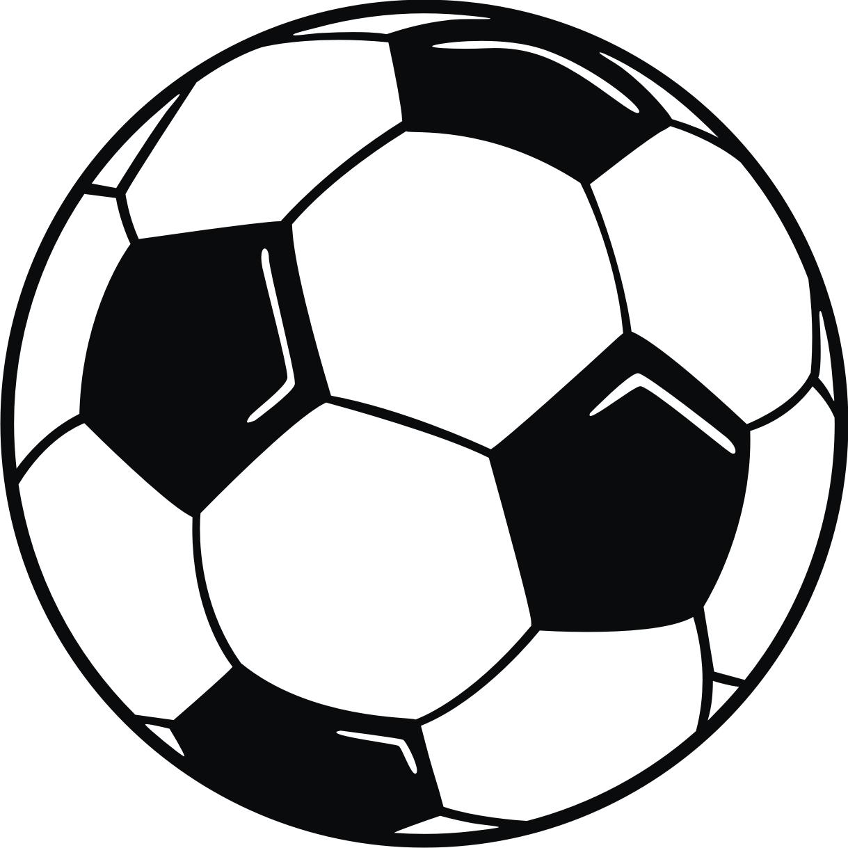 Free printable clip art soccer ball .