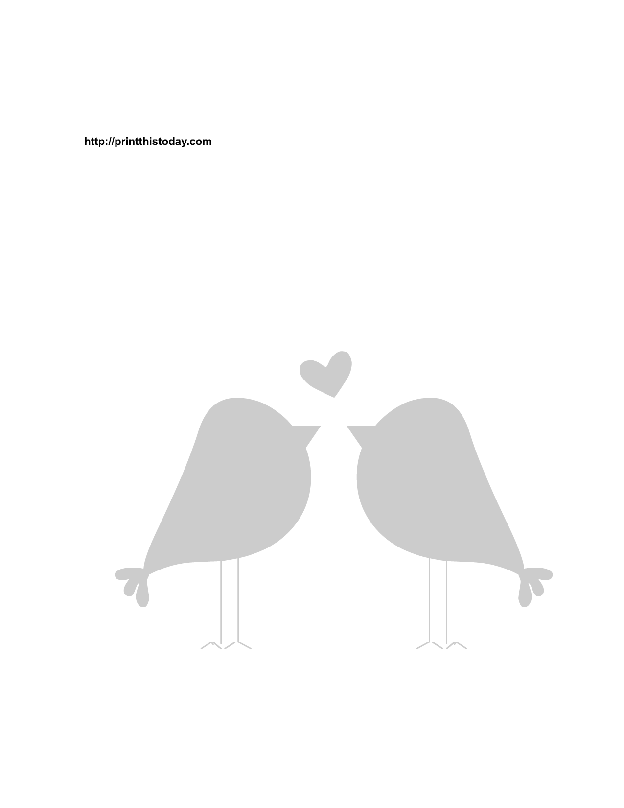 Free Printable Love Birds Stencils-Free Printable Love Birds Stencils-5