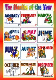 Free Printable Months Of The  - Months Of The Year Clipart
