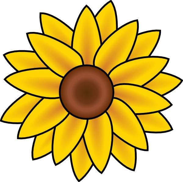 Free Printable Sunflower Stencils | Sunflower clip art - vector clip art online, royalty free