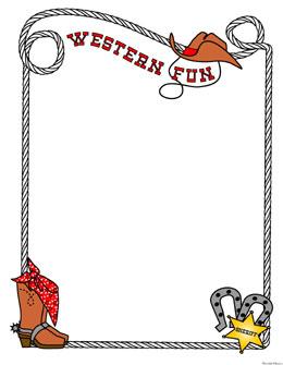 Free Printable Western Clip Art Borders 1