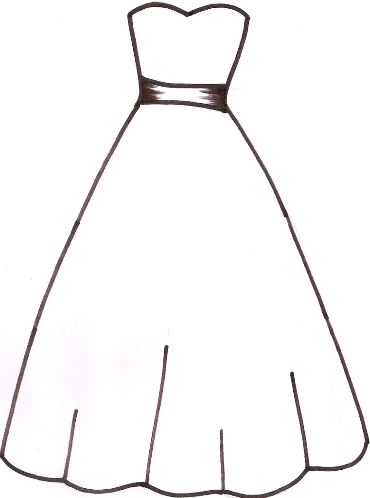 Free Prom Dress Clipart ClipartFest
