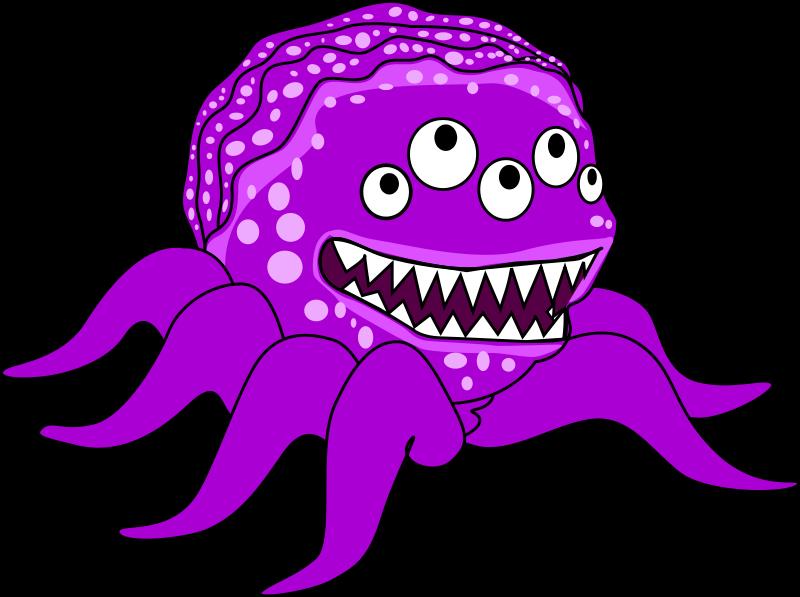 Free Purple Mutant Monster Clip Art u002-Free Purple Mutant Monster Clip Art u0026middot; monster3-17