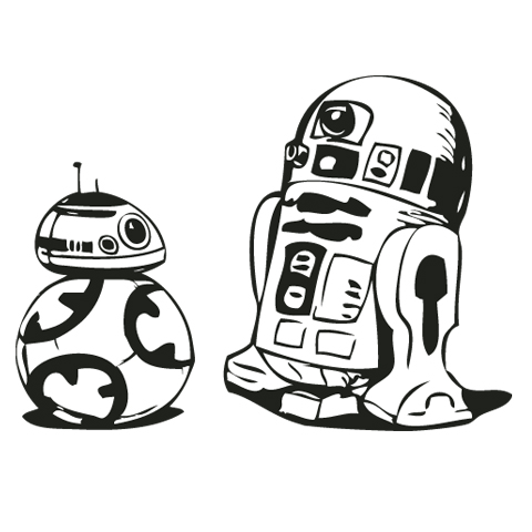 Beautiful Free R2D2 And BB8 Clip Art . ...
