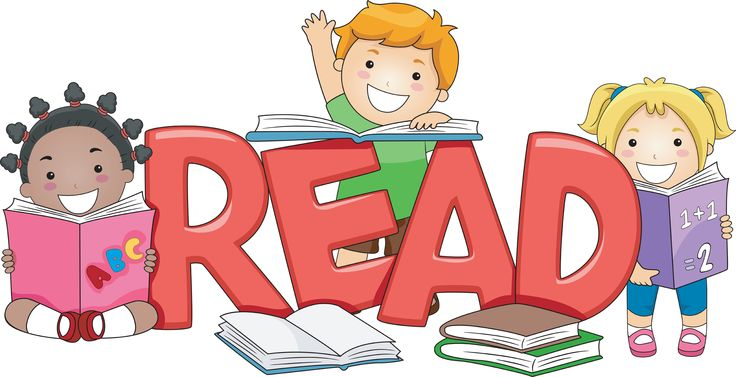 Free Reading Clipart - Reading Books Clipart