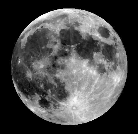 Free Realistic Moon Clip Art