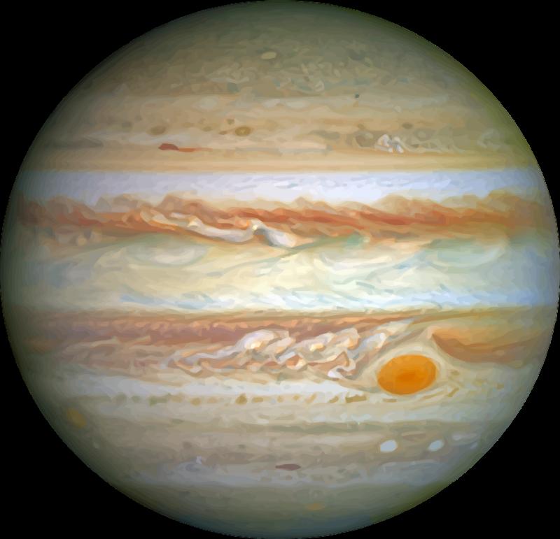 Free Realistic Planet Jupiter Clip Art · jupiter6