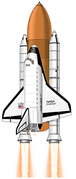 Free Realistic Space Shuttle Clip Art