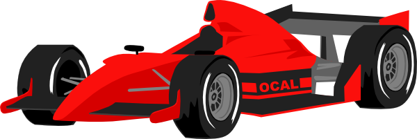 Free Red Formula One Race Car Clip Art