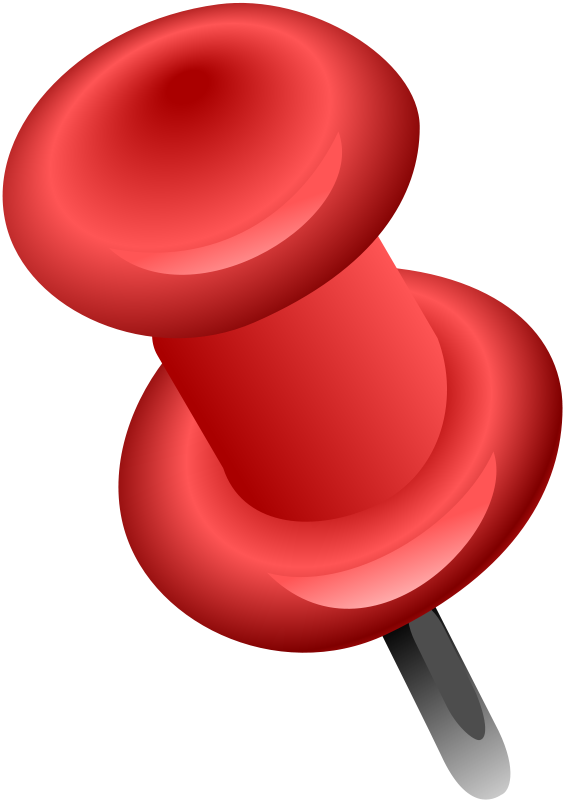 Free Red Push Pin Clip Art