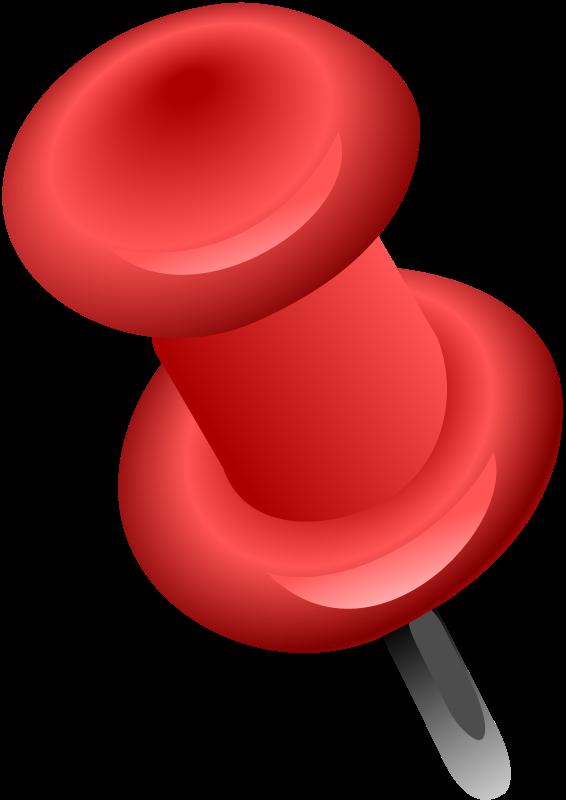 Free Red Push Pin Clip Art-Free Red Push Pin Clip Art-1