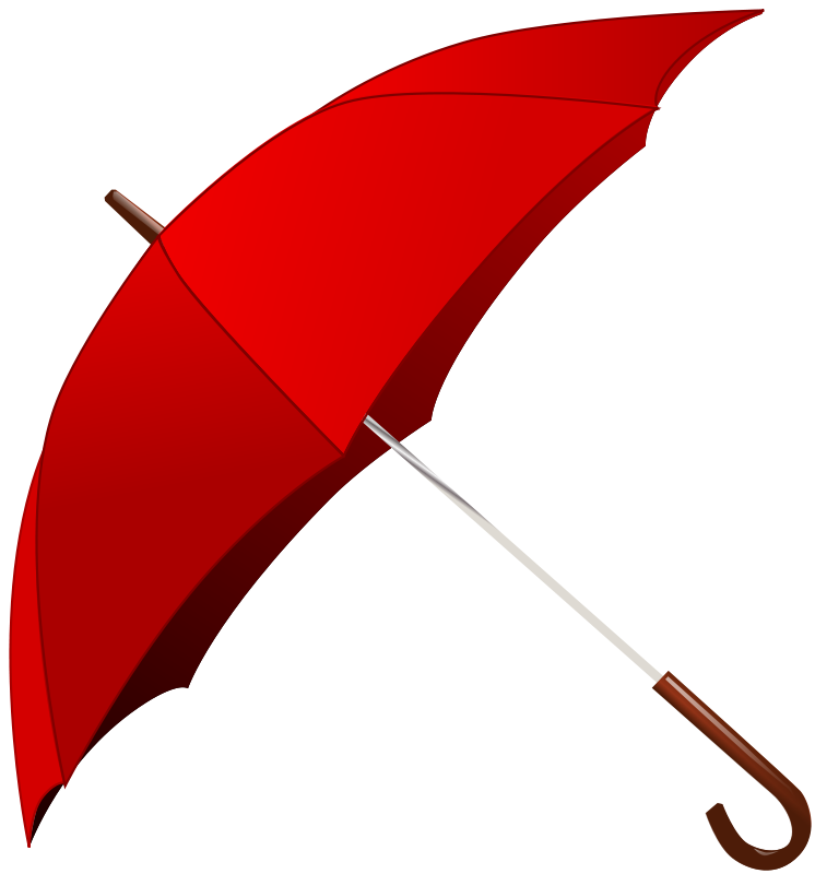 Free Red Umbrella Clip Art