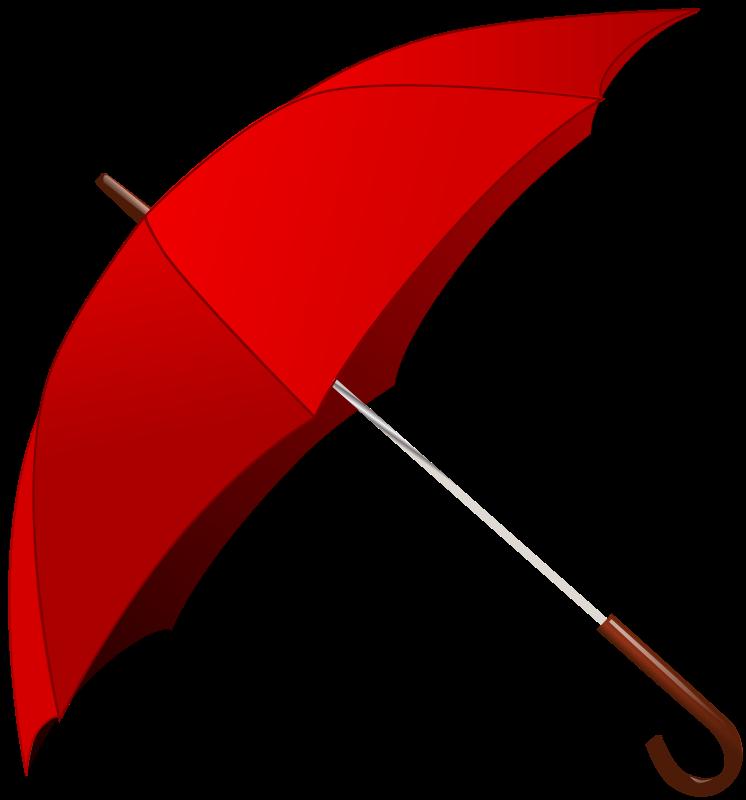 Free Red Umbrella Clip Art