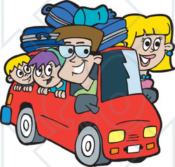 Free Rf Clipart Illustration Of A Family On A Road Trip Version 3