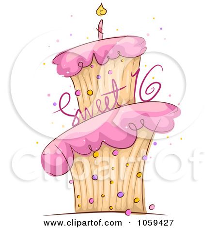 Free Rf Frosting Clipart . - Sweet 16 Clip Art