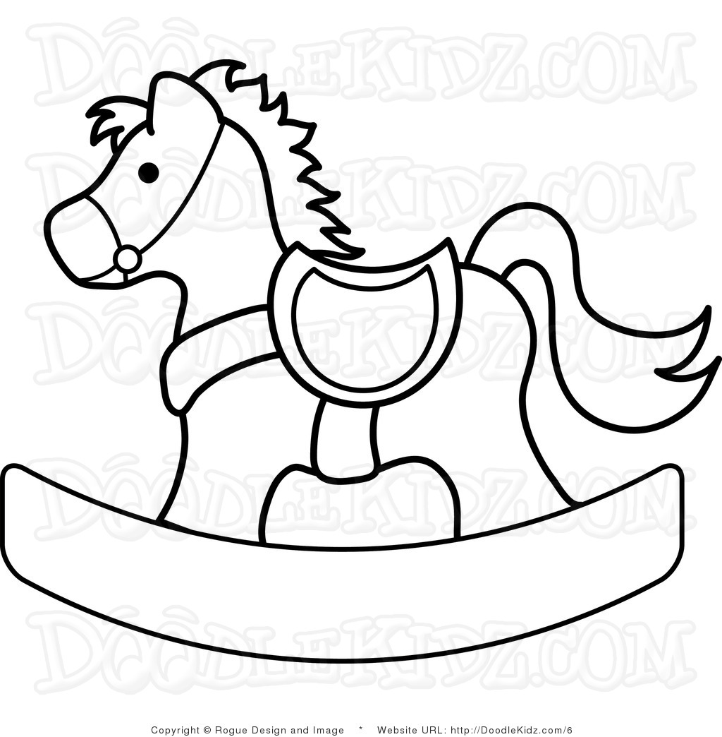 Free Rocking Horse Clip Art.  - Rocking Horse Clipart