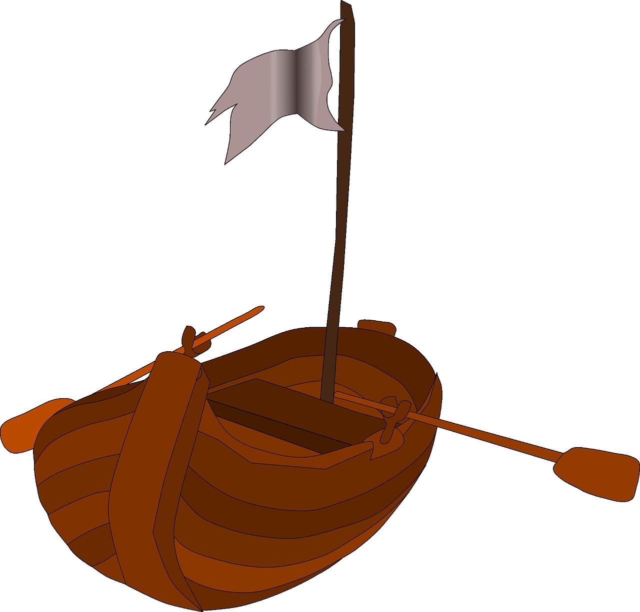 Free Row Boat Clip Art