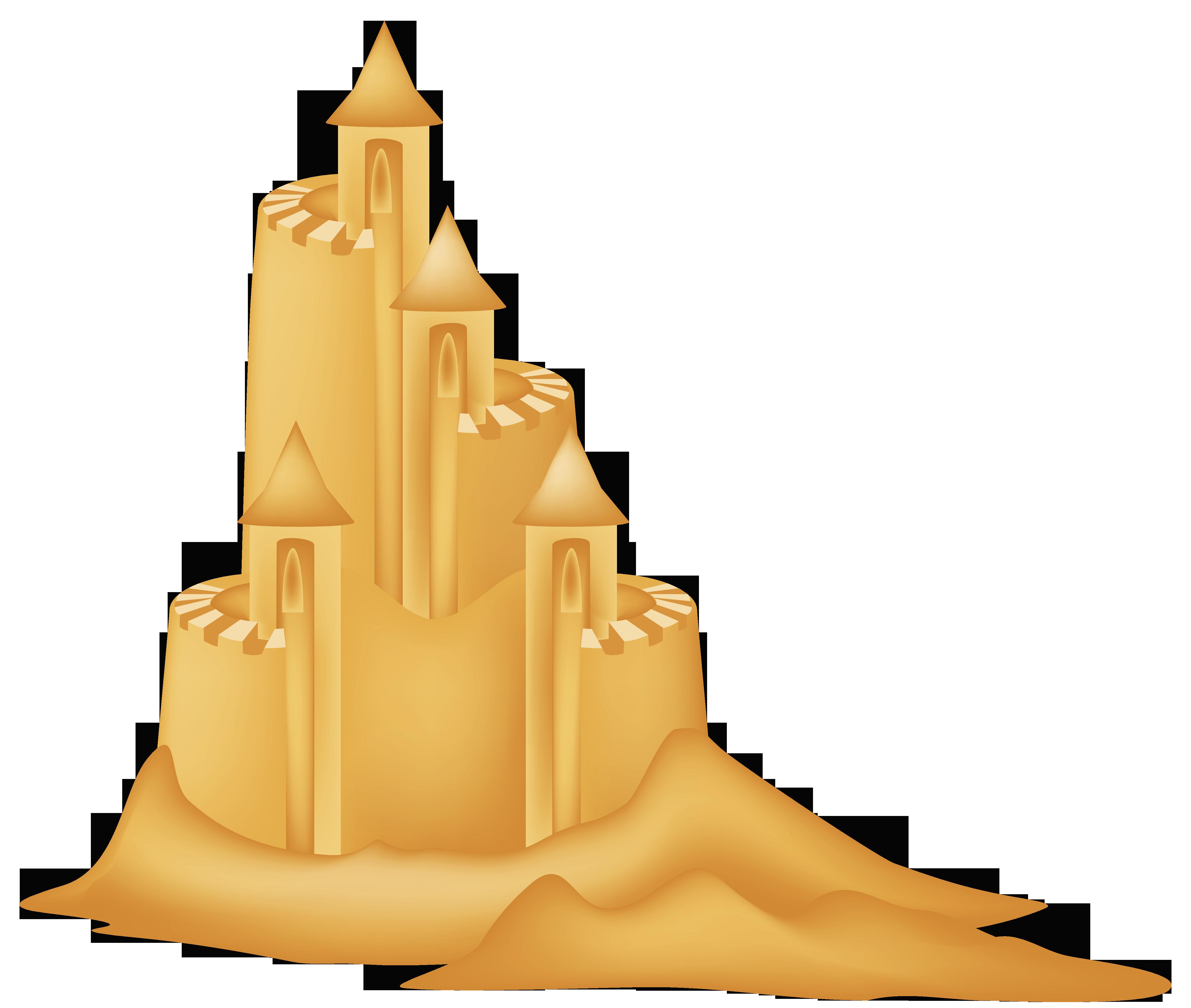 Free sand castle clip art - .