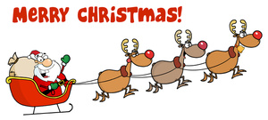 Free Santa Clip Art Image: Santa Saying u0026quot;Merry Christmasu0026quot;