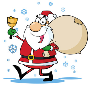 Free santa sleigh with present clipart - ClipartFest