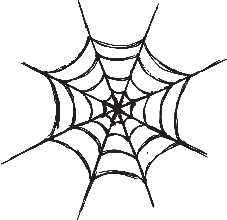 Free Scary Halloween Clip Art Black and White