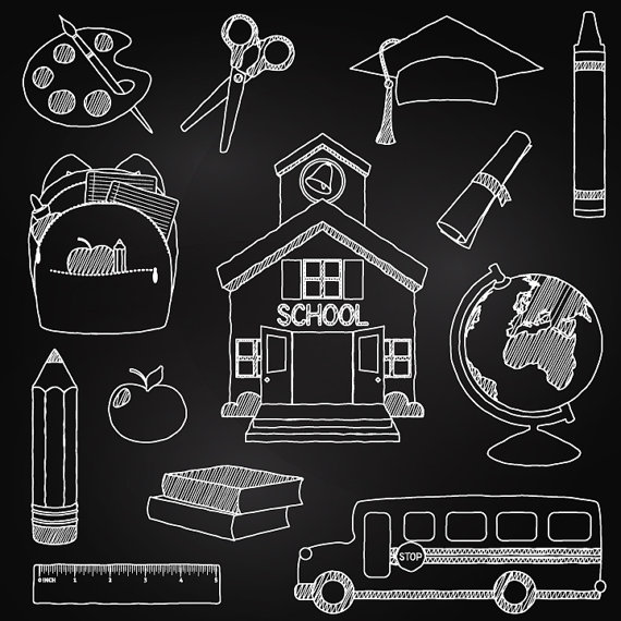 Free School Blackboard Clipart. 1000  images about Chalk on .