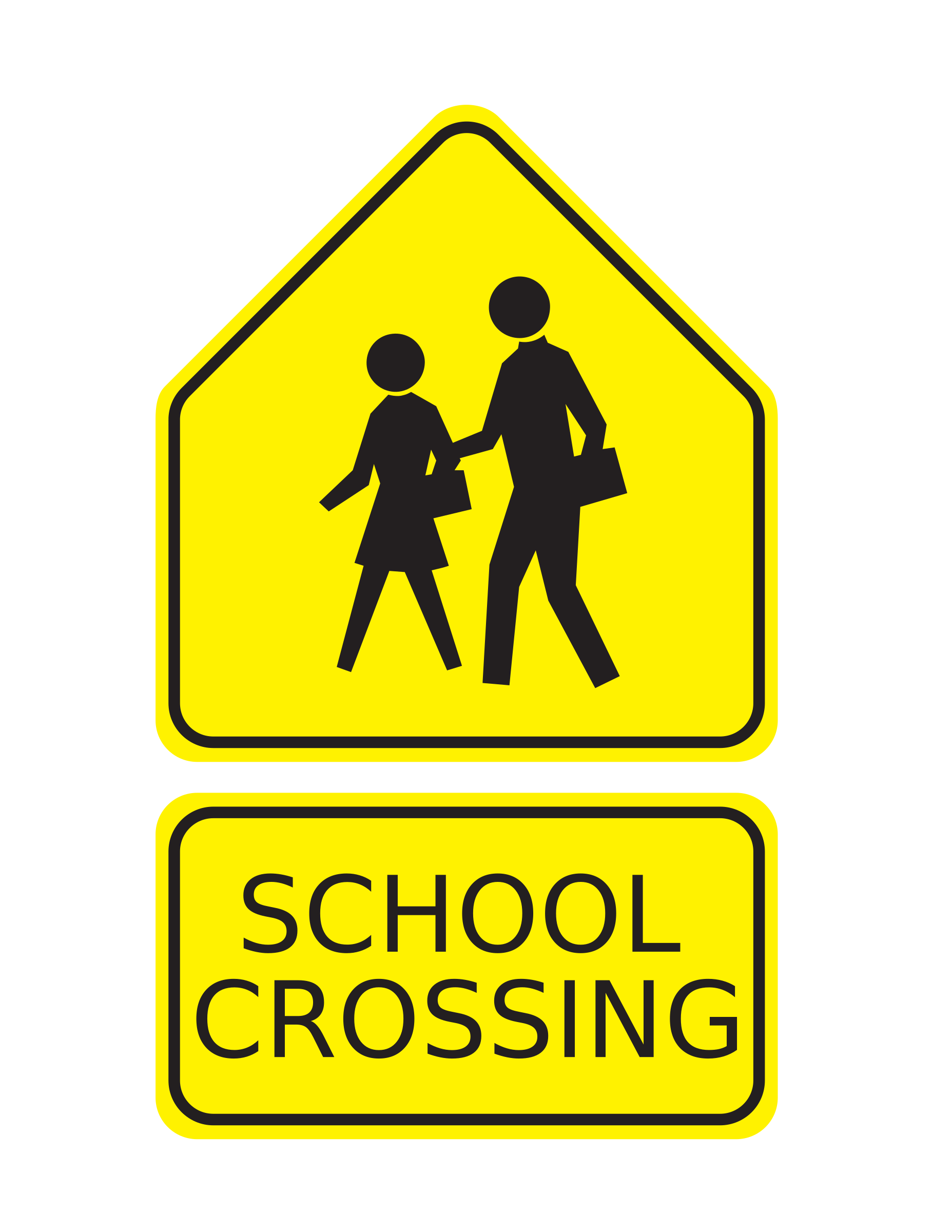 Free School Signs Clipart. BI - Yield Sign Clip Art