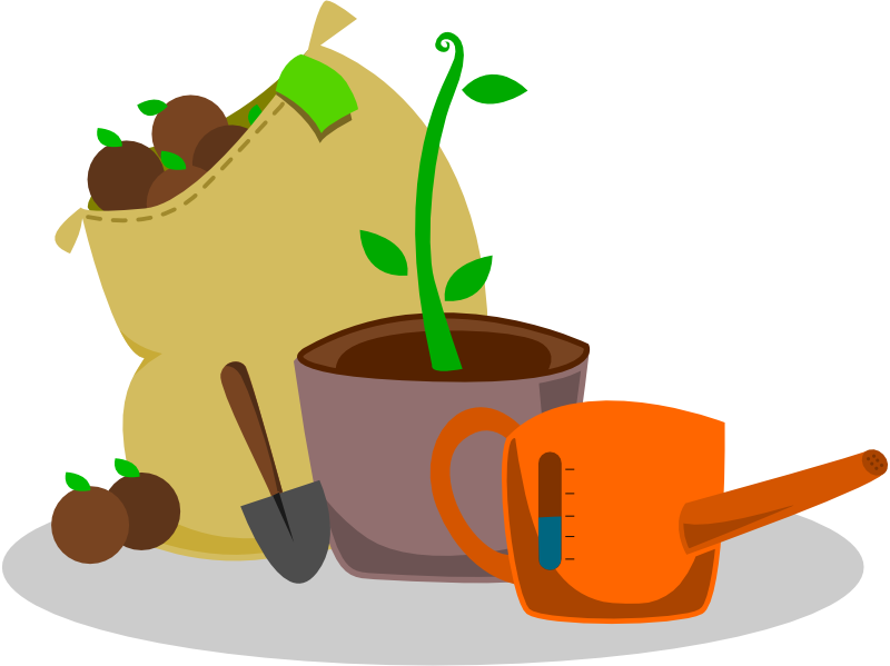 Free Set of Garden Supplies Clip Art