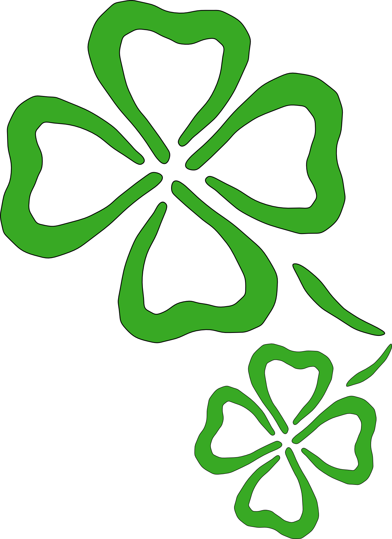 Free shamrock clipart public domain holiday stpatrick clip art 5 2