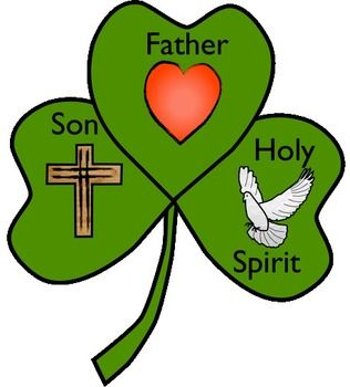 Free Shamrock Template To Create A Craft-Free Shamrock template to create a craft in honor of the Blessed Trinity. There is a large heart to symbolize God the Father. There is a cross to represent ...-18