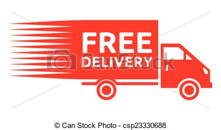 Free delivery truck - free sh - Free Shipping Clipart