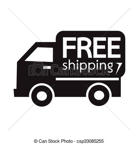 Free Shipping Icon Symbol Illustration D-Free Shipping Icon Symbol Illustration Design-5