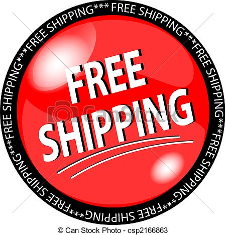 red free shipping button - cs - Free Shipping Clipart