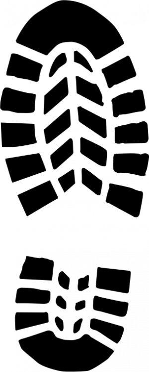 Free Shoe Print Clip Art of .