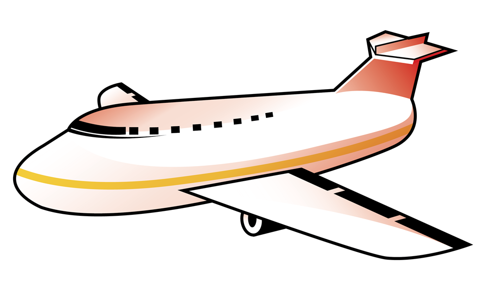 Airplane simple. Clip art free