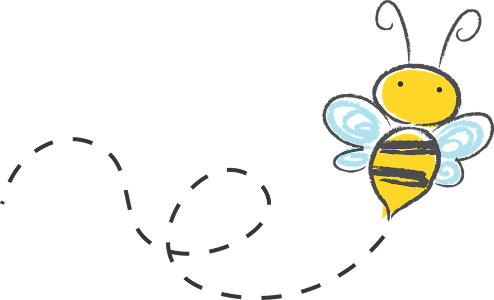 Free Simple Bee Clip Art