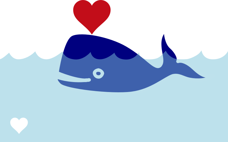 Free Simple Blue Whale Clip Art u0026middot; whale17