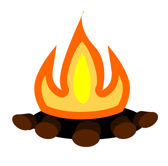 Free Simple Bonfire Clip Art