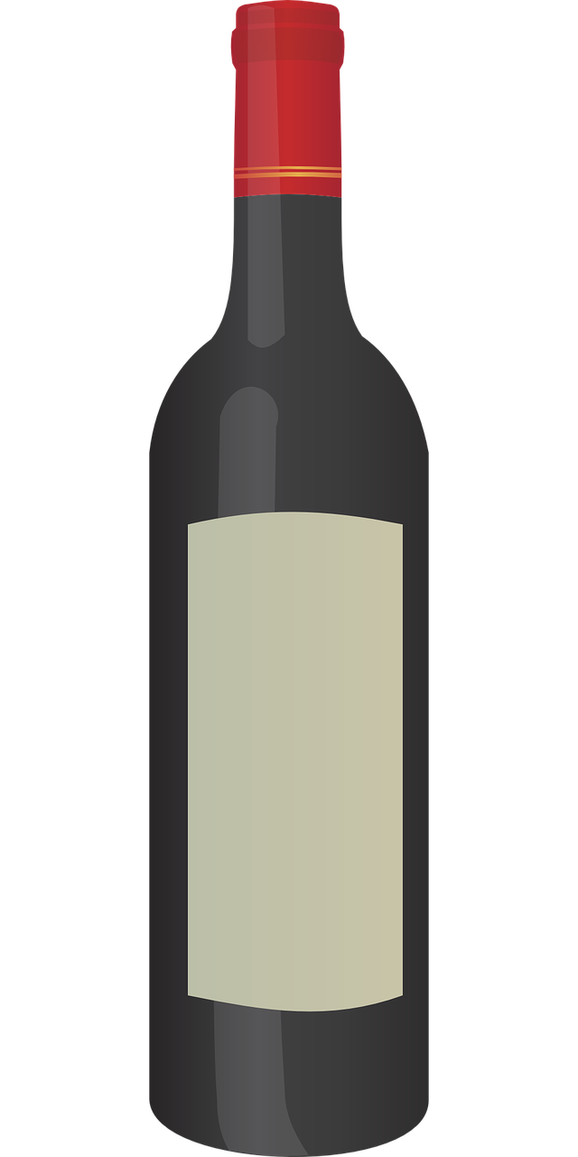 Free Simple Bottle of Red Win - Wine Bottle Clipart
