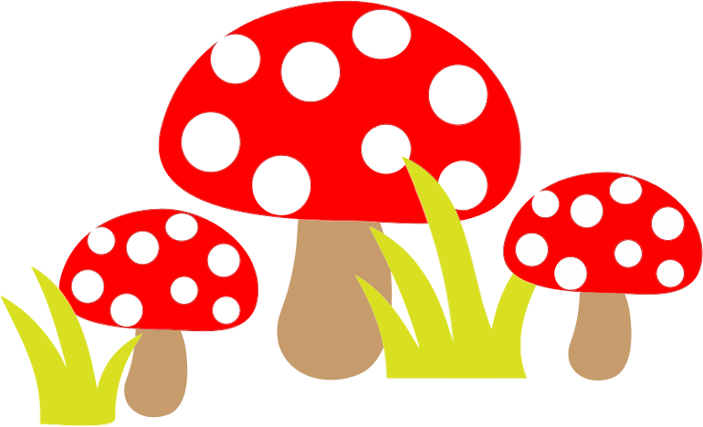 Free Simple Cartoon Mushrooms Clip Art