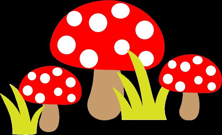 Free Simple Cartoon Mushrooms Clip Art