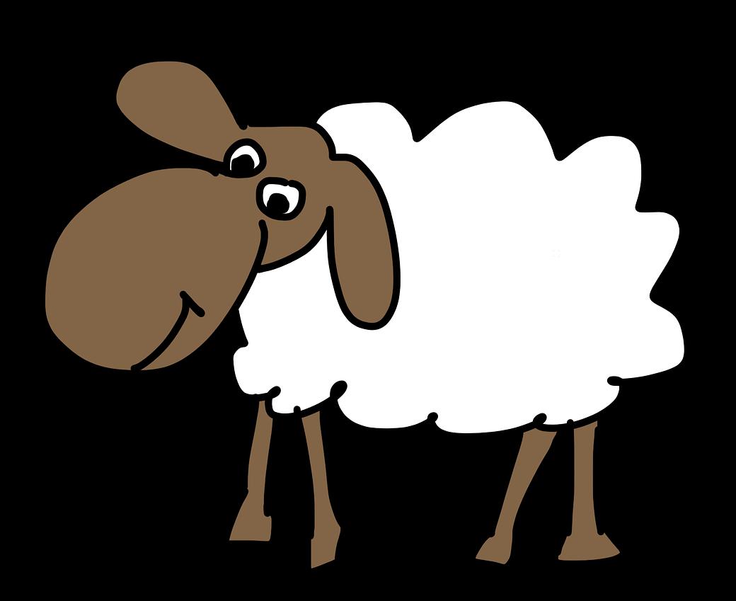 Free Simple Cartoon Sheep Clip Art-Free Simple Cartoon Sheep Clip Art-9