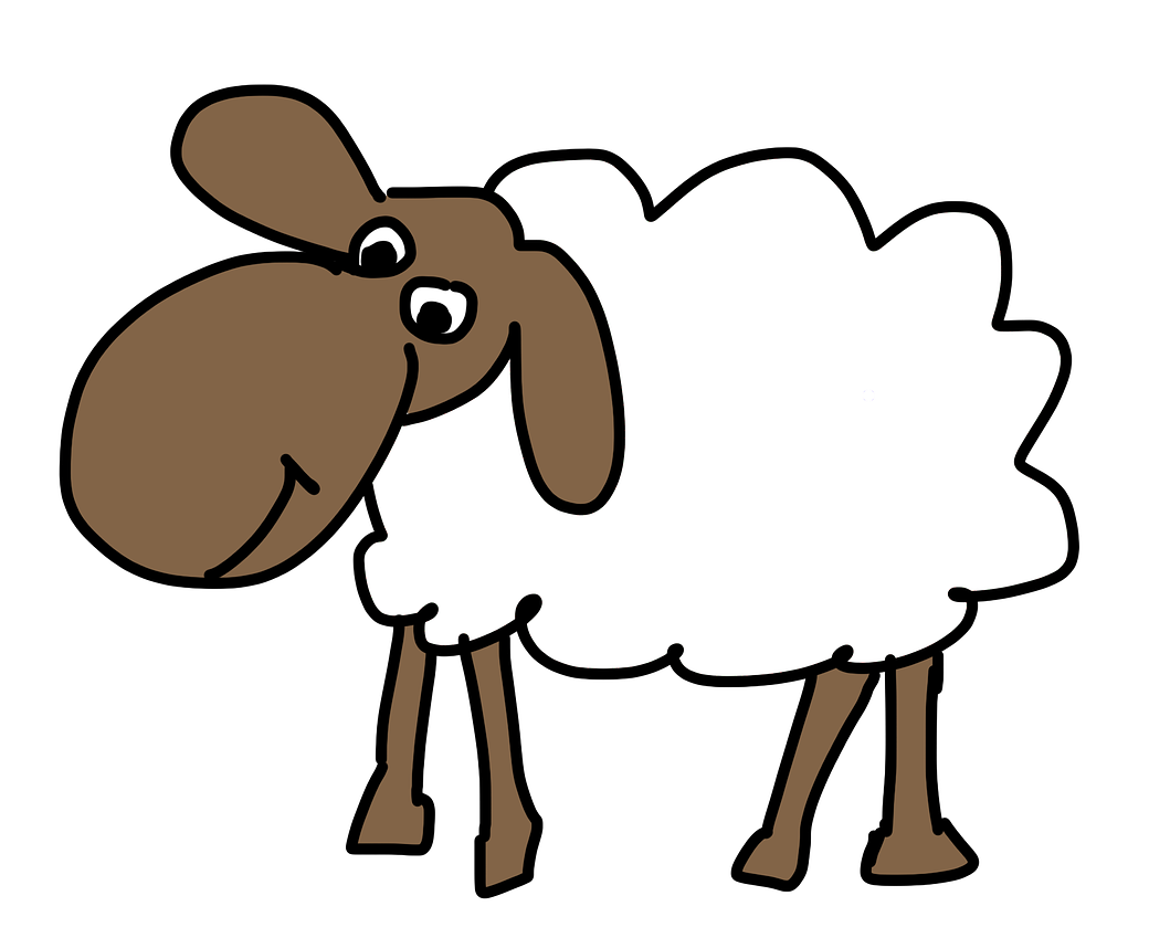 Free Simple Cartoon Sheep Clip Art