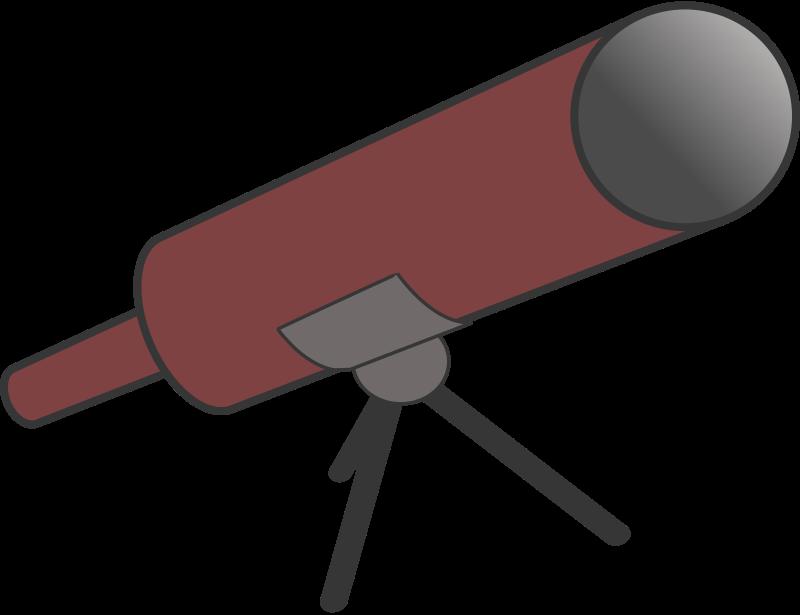 Free Simple Cartoon Telescope Clip Art
